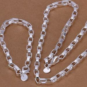 NEW 925 Sterling Silver Necklace Bracelet Set